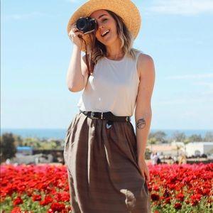 prAna Womens Perry Midi Dress
